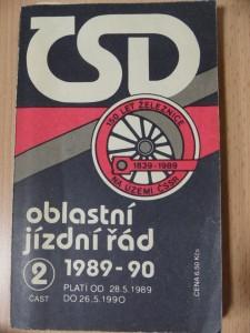 náhled knihy - Oblastní jízdní řád 1989-90 : 2. část