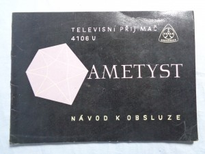 náhled knihy - Televisní přijimač 4106U Ametyst návod k obsluze