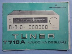 náhled knihy - Tuner T710A Návod na obsluhu