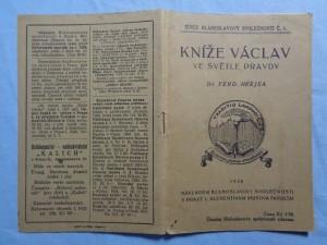 náhled knihy - Kníže Václav ve světle pravdy