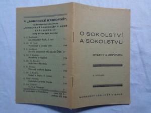 náhled knihy - O sokolství a Sokolstvu: (Otázky a odpovědi)