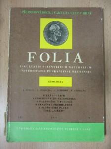 náhled knihy - Folia - geologia : K petrografii autochtonního paleozoika a paleogénu v podloží Karpatské předhlubně a flyšového pásma úsek