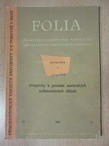 náhled knihy - Folia - geologia 1. : Příspěvky k poznání moravských sedimentárních oblastí