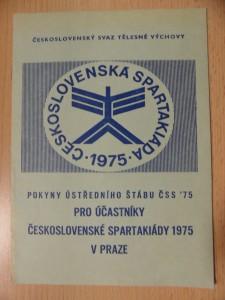 náhled knihy - Pokyny ústředního štábu ČSS '75 pro účastníky Československé spartakiády v Praze