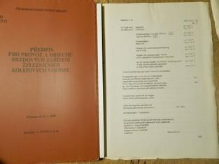 náhled knihy - předpis pro provoz a obsluhu brzdových zařízení železničních kolejových vozidel
