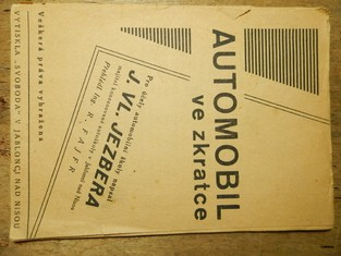 náhled knihy - automobil ve zkratce, napsáno pro účely automobilní školy