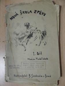 náhled knihy - Nová škola zpěvu pro školy střední, občanské i pro vyšší stupně škol obecných - I. díl