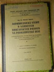 náhled knihy - Agrobotanická studie o nardetech boržavských polonin na Podkarpatské Rusi : Agrobotanische Studie über die Nardeta der Alpen (Poloniny) Boržava in Karpathen-Rußland