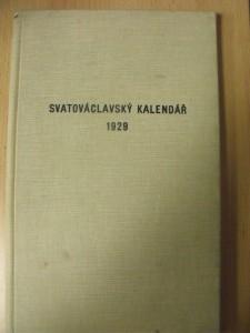 náhled knihy - Svatováclavský kalendář na jubilejní rok milenia mučednické smrti světce Václava 1929