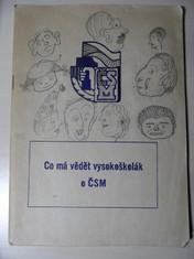 náhled knihy - Co má vědět vysokoškolák o ČSM