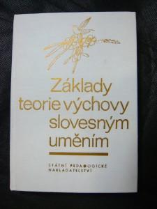 náhled knihy - Základy teorie výchovy slovesným uměním