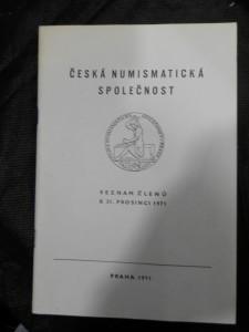 náhled knihy - Česká numismatická společnost, pobočka Praha: seznam členů k 31. prosinci 1971