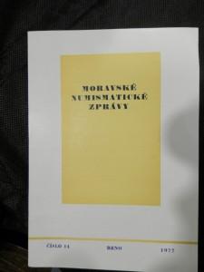 náhled knihy - Moravské numismatické zprávy, č.14