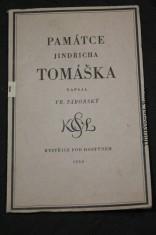 náhled knihy - Památce Jindřicha Tomáška