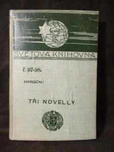 náhled knihy - Tři novely : Mořští ptáci; V osidlech Huldry; Strašidlo