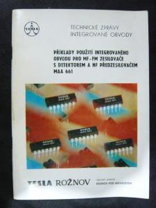 náhled knihy - Příklady použití integrovaného obvodu pro MF-FM zesilovače s detektorem  a NF předzesilovačem MAA 661