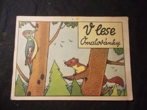 náhled knihy - V lese (omalovánka)
