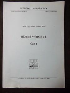 náhled knihy - VUT Brno: Řízení výroby I. - část 2