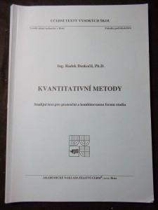 náhled knihy - Kvantitativní metody : studijní text pro prezenční a kombinovanou formu studia