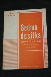 náhled knihy - Sedmá desítka lidových písní ruské, polské, bosenské