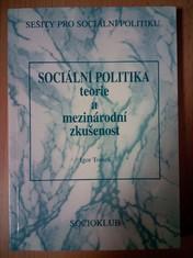 náhled knihy - Sociální politika : Teorie a mezinárodní zkušenost