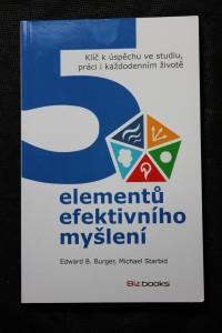 náhled knihy - 5 elementů efektivního myšlení