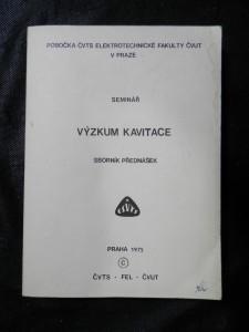 náhled knihy - Výskum kavitace : Seminář : Sborník přednáše