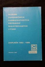 náhled knihy - Seznam zahraničních farmaceutických přípravků registrovaných v ČSSR : doplněk za období 1.1. 1983 - 1.1. 1986