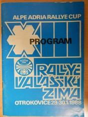 náhled knihy - Program XIII. rallye Valašská zima