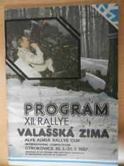 náhled knihy - Program XII. rallye Valašská zima