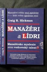 náhled knihy - Manažéri a lídri : manažérske myslenie versus vodcovský talent?
