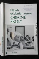 náhled knihy - Návrh učebních osnov obecné školy