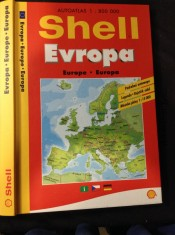 náhled knihy - Shell Evropa. Autoatlas 1 : 800 000