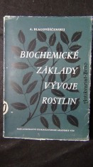náhled knihy - Biochemické základy vývoje rostlin