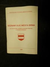náhled knihy - Seznam ulic města Brna : Pro pracovníky městské hromadné dopravy a cestující veřejnost