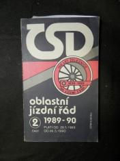 náhled knihy - Oblastní jízdní řád ČSD 1989-90 část 2