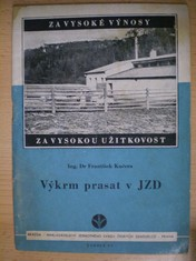 náhled knihy - Výkrm prasat v JZD