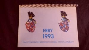 náhled knihy - Kalendář 1993 - Erby význačných šlechtických rodů z Čech a Moravy