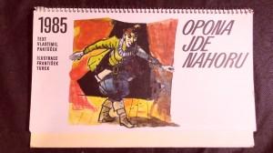 náhled knihy - Kalendář 1985 - Opona jde nahoru